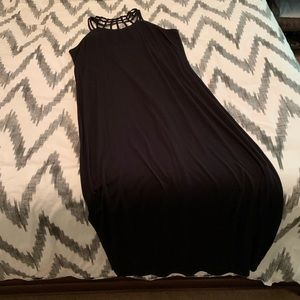 Caged back maxi dress